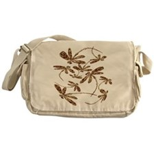 Dragonfly Gold Frenzy Messenger Bag