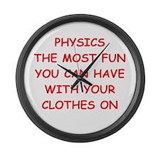 physics joke Large Wall Clock