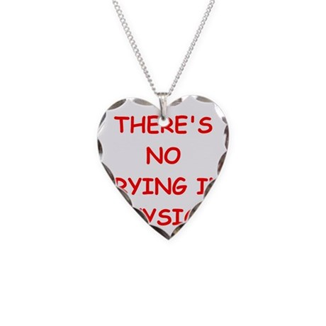 Physics joke necklace