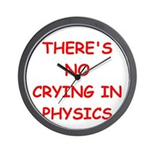 physics joke Wall Clock