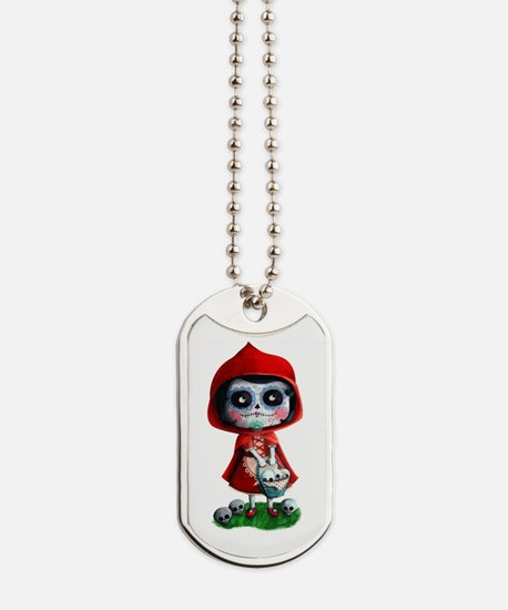 Spooky Red Riding Hood Dog Tags