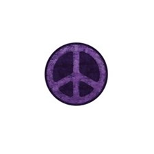 Distressed Purple Peace Sign Mini Button (100 pack