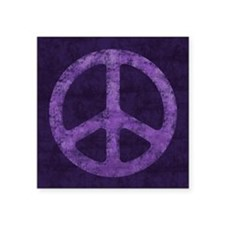 Distressed Purple Peace Sign Sticker