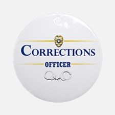 Corrections Officer Ornament (Round)