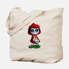 Spooky Red Riding Hood Tote Bag
