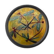 Dragonfly Haze Large Wall Clock
