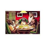POKER DOGS Rectangle Magnet (10 pack)