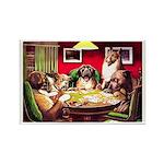 POKER DOGS Rectangle Magnet (100 pack)