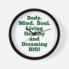 Body, Mind, Soul Wall Clock