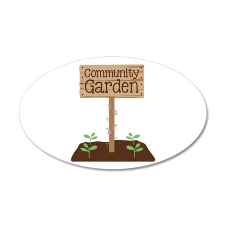 Community Garden Wall Decal
