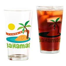I Love The Bahamas Drinking Glass