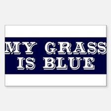 my grass is blue white bs 2 Decal