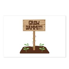 Grow Dammit Postcards (Package of 8)