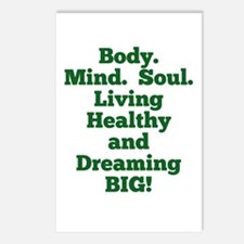 Body, Mind, Soul Postcards (Package of 8)