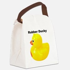 Rubber Ducky  Canvas Lunch Bag