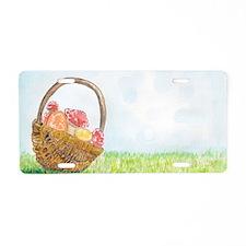 Easter Basket Aluminum License Plate