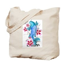 Blue Koi Fish Tote Bag