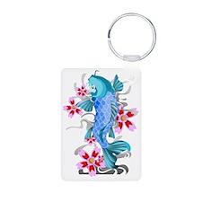 Blue Koi Fish Keychains
