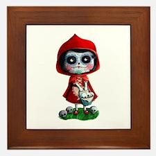 Spooky Red Riding Hood Framed Tile
