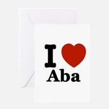 I love Aba Greeting Card