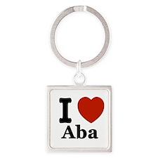I love Aba Square Keychain