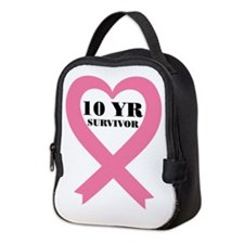 Breast Cancer 10 Year Survivor Neoprene Lunch Bag