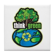 Think Green Tile Coaster