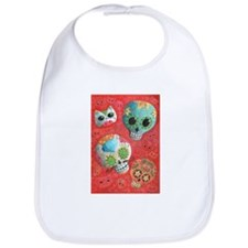 Colorful Mexican Sugar Skulls Bib