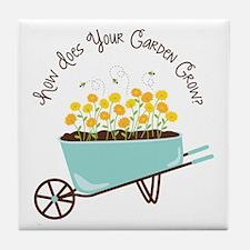 How Does Your Garden Grow Tile Coaster