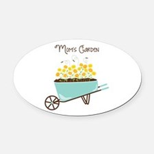 Moms Garden Oval Car Magnet