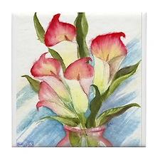Cute Floral still life Tile Coaster