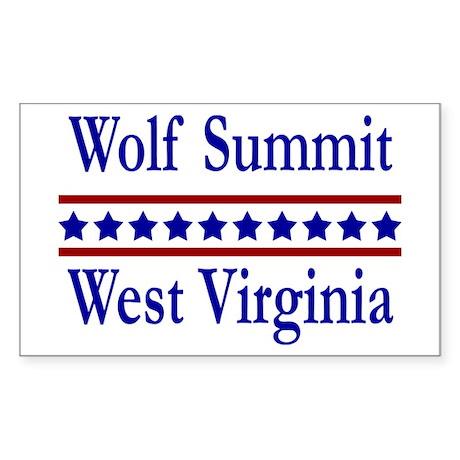 Wolf Summit WV Rectangle Sticker