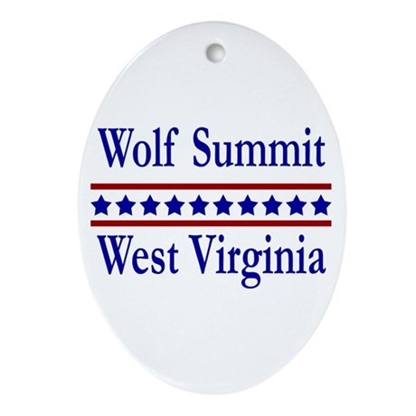 Wolf Summit WV Oval Ornament
