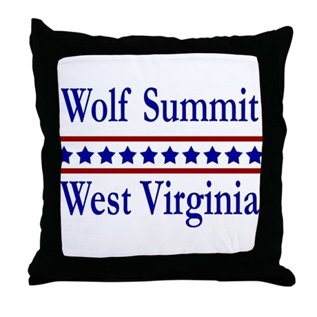 Wolf Summit WV Throw Pillow