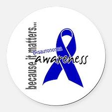 Awareness 1 Dysautonomia Round Car Magnet