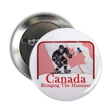 """Canadian Hockey 2.25&Quot; 2.25"""" Button"""