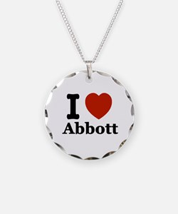 I love Abbott Necklace