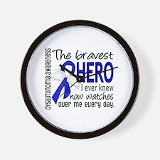 Bravest Hero I Knew Dysautonomia Wall Clock