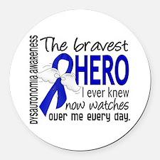 Bravest Hero I Knew Dysautonomia Round Car Magnet