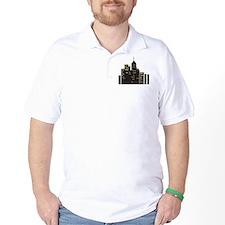 Black urban city scape T-Shirt