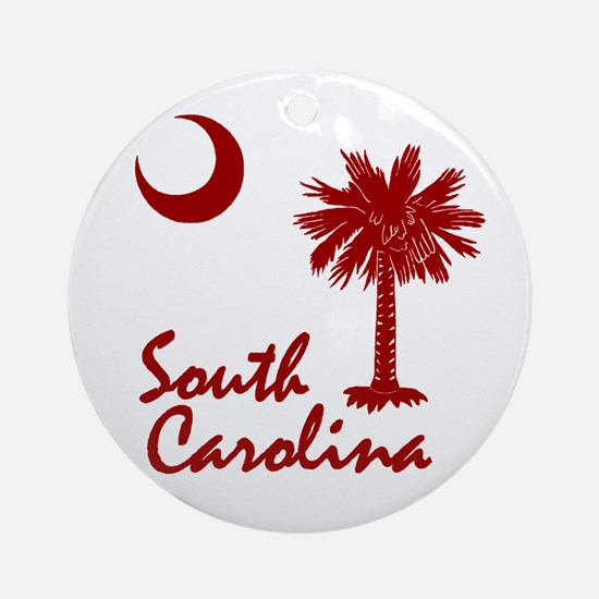 South Carolina Palmetto Ornament (Round)