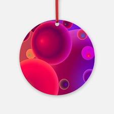retro 70s bubbles pink neon Ornament (Round)