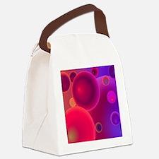 retro 70s bubbles pink neon Canvas Lunch Bag