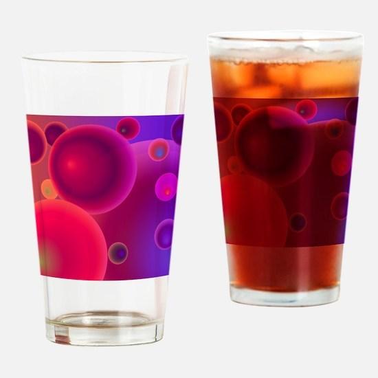 retro 70s bubbles pink neon Drinking Glass
