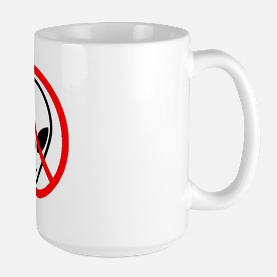 No Aliens Large Mug
