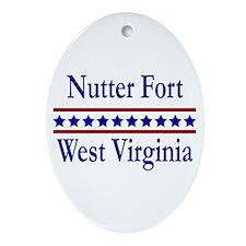 Nutter Fort WV Oval Ornament