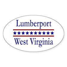 Lumberport WV Oval Bumper Stickers