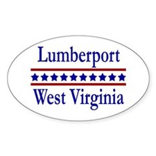 Lumberport WV Oval Decal