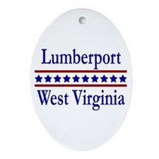 Lumberport WV Oval Ornament