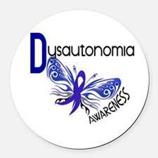 Butterfly 3.1 Dysautonomia Round Car Magnet
